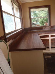 Walnut Countertop On Pinterest 3 Pillar Homes Waterfall Countertop And Birch Cabinets