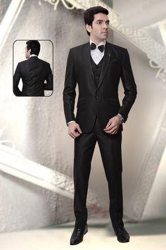 BLACK BROAD PEAK LAPEL WEDDING RECEPTION TUXEDO  #royalbluebandhgala #bluebandhgala #suitsblazer Reception Suits, Wedding Reception, Broad Peak, Tuxedo Wedding, Kinds Of Clothes, Tuxedos, Blazers For Men, Men's Collection, Formal Wear