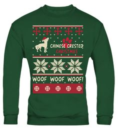 # Chinese Crested Christmas Woof Woof Shirt .  HOW TO ORDER:1. Select the style and color you want: 2. Click Reserve it now3. Select size and quantity4. Enter shipping and billing information5. Done! Simple as that!TIPS: Buy 2 or more to save shipping cost!Chinese Crested Christmas Woof Woof Shirt Hoodie Sweater  Sweatshirt Chinese Crested