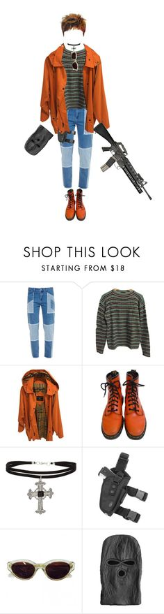 """one shot one chance"" by honjo ❤ liked on Polyvore featuring House of Holland, Prada, Burberry, Dr. Martens, Topshop, RetroSuperFuture and Stampd"