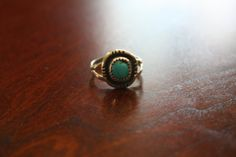 Antique Teal Stone Ring
