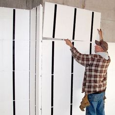 Refinishing your basement walls? Easy-to-install interlocking panels save DIYers labor and floor space. |  thisoldhouse.com