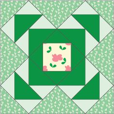"FREE Treasures from Ireland 12"" quilt block pattern."