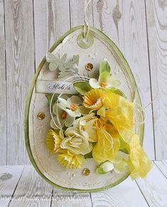 Dorota_mk: Valentine's Day, Christmas and workshops in Rzeszów :) July Crafts, Easter Crafts, Easter Decor, Easter Parade, Egg Art, Paper Tags, Card Making Inspiration, Scrapbook Cards, Scrapbooking
