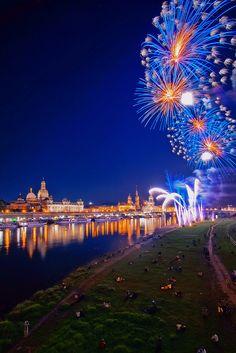 Fireworks, Dresden, Germany