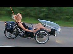(1) HP Velotechnik Scorpion E-Trike mit Tretkurbelantrieb - Moni macht Probefahrt - YouTube