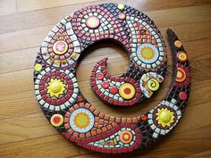 Paisley Mosaic Swirl by ree-creation-mosaics, via Flickr