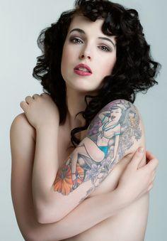 Girl tattoo designs - #pinupstyle