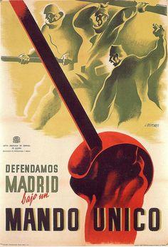 By José Briones (1905-1975), 1937, Defendamos Madrid, Republican poster Spanish Civil War. (Spain)