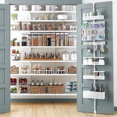Pantry Shelving, Pantry Storage, Kitchen Storage, Pantry Diy, Small Pantry, White Pantry, Open Shelving, Pantry Makeover, Kitchen Shelves