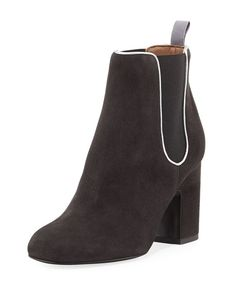 1aba3b82d19d58 Gored Suede 70mm Bootie by Laurence Dacade at Neiman Marcus Suede Booties