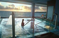 ESP: Jacuzzi Privado Ocean View Suites / EN: Private Jacuzzi Ocean View Suites. Corallium Thalasso Villa del Conde (Gran Canaria)