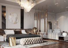 M A S T E R on Behance Modern Luxury Bedroom, Master Bedroom Interior, Modern Master Bedroom, Luxury Home Decor, Luxury Interior Design, Luxurious Bedrooms, Home Decor Bedroom, Lofts, Interiores Design