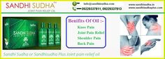SandhiSudha is an ultimate pain relieving formulation made up of rare plants found in Himalayas. Sandhi Sudha Oil is one of the most effective and the fast working joint pain relief oil admired by large number of people using it on daily basis. More Information about SandhiSudha & SandhiSudhaPlus, please visit the official website : - www.sandhisudha.in & www.sandhisudhaplus.com  Call now :- +91 9229135021, 9229337813