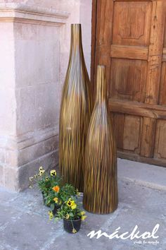 Jarrones de madera, un accesorio moderno #Mackol#vistetuevento