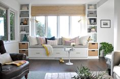 Window Seat and Built-Ins Reveal (befores, middles, and afters) | House Updated | Bloglovin