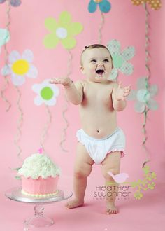 great background for 1st birthday cake smash