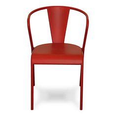 Akaros Chaise rouge en acier design