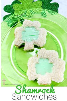 The Perfect Treat for Your Saint Patrick's Day Party - Shamrock Sandwiches #StPatrick #SaintPatrick #SaintPatricksDay Catholic Kids, Catholic Homeschooling, Catholic Books, Vegetarian Marshmallows, Marshmallow Creme, St Patricks Day, Saint Patricks, Pot Of Gold, Rainbow Birthday