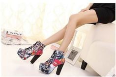 womens high heel shoes boots fashion clothes wear club clubing colored size 5