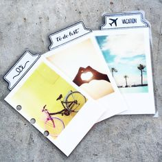 DIY planner tabs made by Studio L2E. she is so inspiring, her blog has gorgeous images and many DIY for planners and artists.