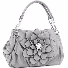 Cute gray purse with matching wallet!
