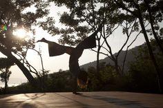 Balancing #Yoga at platform in early morning