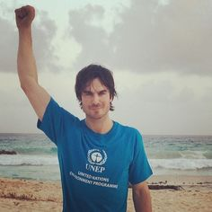 Ian Somerhalder - 06/06/14 - We did it! Signed the UNEP paperwork with my new brother and world-changing Executive Director of the UNEP who is also the Under Secretary-General of the United Nations Achim Steiner in Parliament with the incredible distinguished members of the green government of Barbados. Thank you to the host country of Barbados for hosting the UNEP's World Environment Day 2014 and all of the love- it truly... http://instagram.com/p/o60dkOqJ_f/ - Twitter & Instagram Pictures