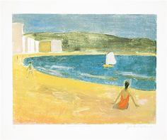 Jean Paul Lemieux, 1985, 55 x 64 cm, colour silkscreen on paper