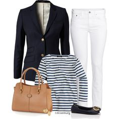 No. 484 - Hi sailor ! by hbhamburg on Polyvore featuring J.Crew, Morris, H&M, Tory Burch, Lord & Taylor and Tod's