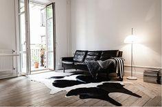 the elusive, vintage black leather sofa