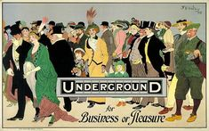 London Underground poster, 1920's