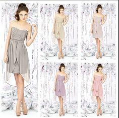 Neutrals. Same dress different colours