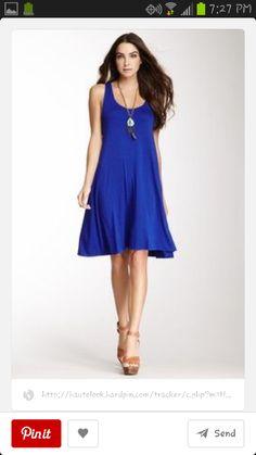 Cobalt dress