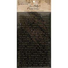 Tim Holtz Idea-Ology Metallic Stickers 4/Pkg Quotations 93559