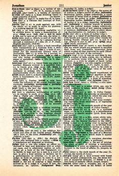 Repurposed Dictionary Art...J by SimpleeSaid on Etsy, $4.50
