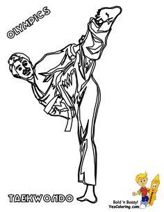 free olympics coloring sheet of taekwondo olympian at yescoloring httpwwwyescoloring
