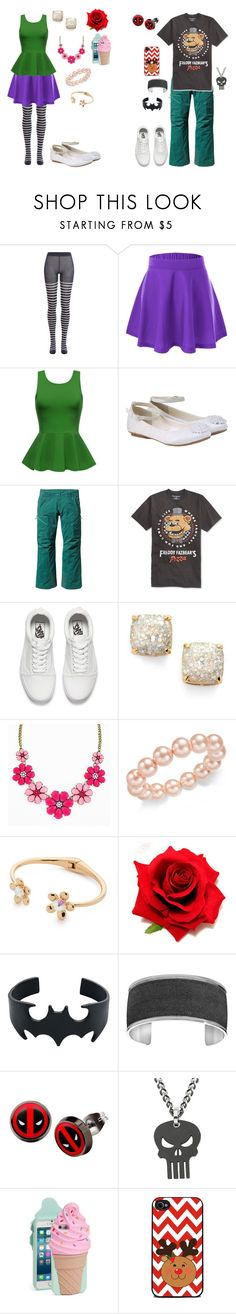 """Girly Girl vs. Tomboy: Best friend bonding time outfits"" by sierra-ivy on Polyvore featuring Sonia Rykiel, Monsoon, Patagonia, Bioworld, Vans, Kate Spade, Charter Club, Marvel and Punisher"