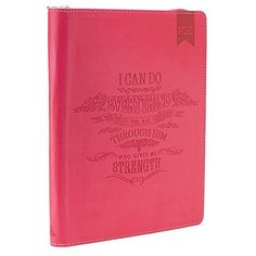 2015 Pink 18 Month Zippered Inspirational Daily Planner - Philippians 4:13  Price : $19.99 http://www.veritasgifts.com/Month-Zippered-Inspirational-Daily-Planner/dp/B00LPPXS9E