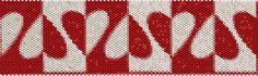 Peyote Stiitch Cuff Pattern Hearts Bead Bracelet by tropicalkaren