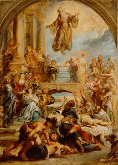 The Miracles of Saint Francis of Paola // about 1627 - 1628 // Peter Paul Rubens // The J. Paul Getty Museum // #levitation