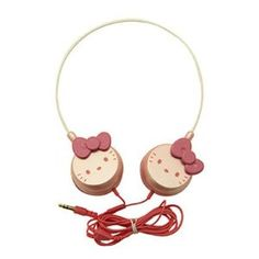 Hello Kitty Stereo Headphones Pink Color!