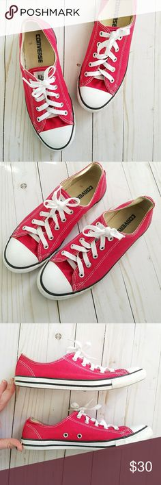 Converse Chuck Taylor All Star Sneakers Red Converse Chuck Taylor All Star Sneakers. Womens 7. Color: Red (true red) White laces. Worn a few times but it excellent  condition! Converse Shoes Sneakers