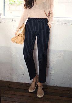 hermione pants #slacks #tapered slacks #stripe #somethinsweet #sthsweet