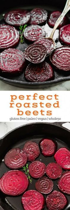 How to Roast Beets (To Make Perfect Roasted Beets!) #glutenfree #paleo #vegan #lowcarb #healthy