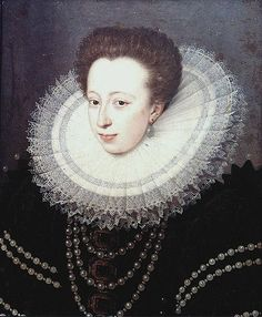 Portrait of Christina of Lorraine, wife of Ferdinando I de' Medici,1588. Christina was a member of the House of Lorraine and was the Grand Duchess of Tuscany by marriage. She served as Regent of Tuscany jointly with her daughter-in-law during the minority of her grandson from 1621 onward.