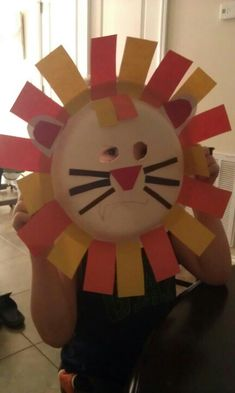 Lion mask Vbs Crafts, Church Crafts, Craft Stick Crafts, Preschool Crafts, Crafts For Kids, Masks Kids, Mask For Kids, Preschool Themes, Activities For Kids