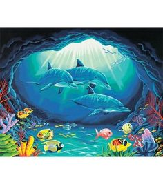 "Paint By Number Kit 20""X16""-Deep Sea Paradise"