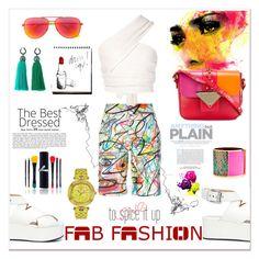 """Fab Fashion- to spice it up!!!"" by zabead ❤ liked on Polyvore featuring Baja East, Jeremy Scott, Alexander Wang, Garance Doré, Sara Battaglia, Shany, Yves Saint Laurent, Sarah Magid, Lanvin and Versace"
