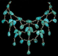 Indian turquoise necklace. Beautiful!